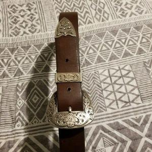 Silpada leather belt size small